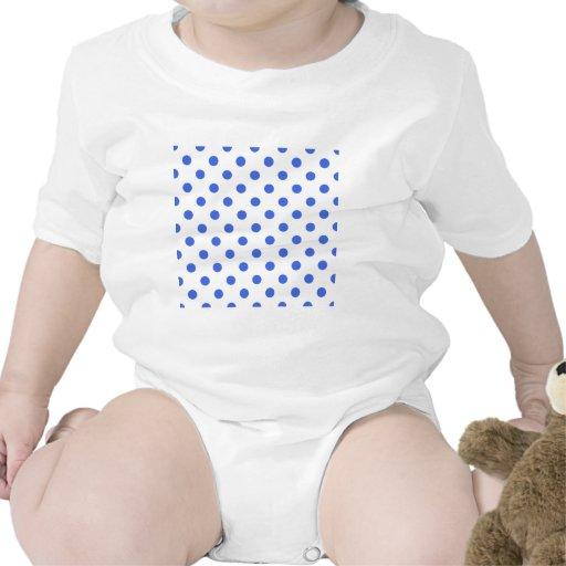 Polka Dots Large - Royal Blue on White Baby Creeper
