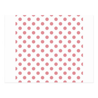 Polka Dots Large - Ruddy Pink on White Postcard