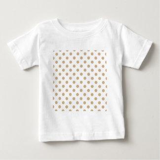 Polka Dots Large - Tan on White Baby T-Shirt
