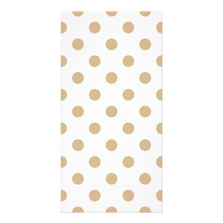 Polka Dots Large - Tan on White Photo Card