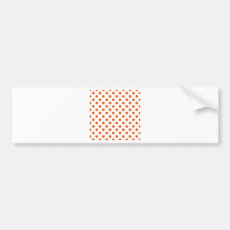 Polka Dots Large - Tangelo on White Bumper Sticker