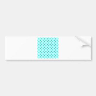 Polka Dots Large - Turquoise on Celeste Car Bumper Sticker
