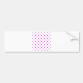 Polka Dots Large - Ultra Pink on White Bumper Stickers