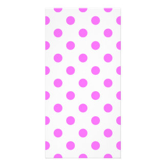 Polka Dots Large - Ultra Pink on White Photo Card