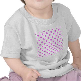 Polka Dots Large - Ultra Pink on White Tee Shirts