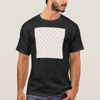 Polka Dots Large - Unbleached Silk on White T-Shirt