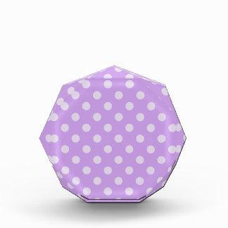 Polka Dots Large - Violet 3a Acrylic Award