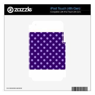 Polka Dots Large - Violet on Dark Violet iPod Touch 4G Skins