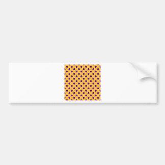 Polka Dots Large - Violet on Orange Bumper Sticker