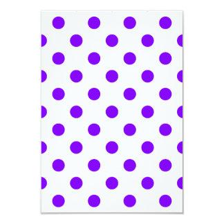 Polka Dots Large - Violet on White 3.5x5 Paper Invitation Card