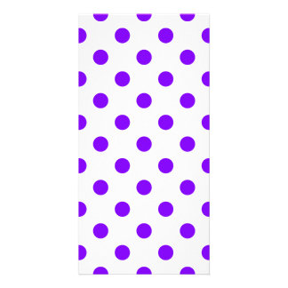 Polka Dots Large - Violet on White Photo Card