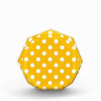 Polka Dots Large - White on Amber Award