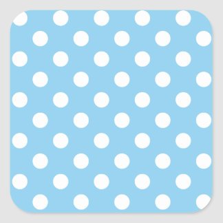 Polka Dots Large - White on Baby Blue Stickers