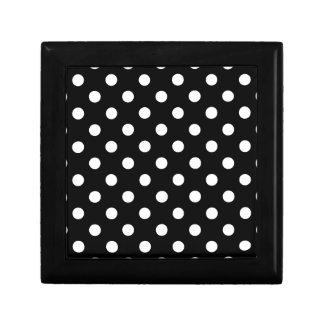 Polka Dots Large - White on Black Gift Box