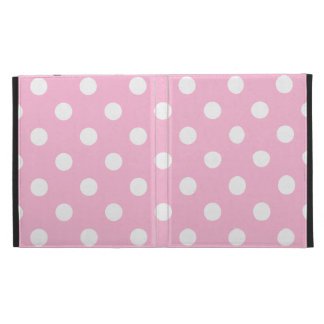 Polka Dots Large - White on Cotton Candy iPad Case