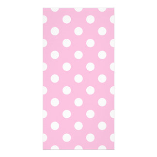 Polka Dots Large - White on Cotton Candy Photo Card