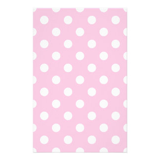 Polka Dots Large - White on Cotton Candy Stationery
