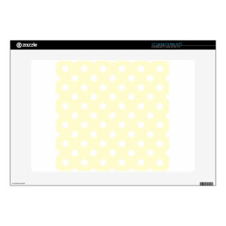 Polka Dots Large - White on Cream Skins For Laptops