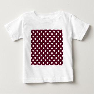Polka Dots Large - White on Dark Scarlet Baby T-Shirt