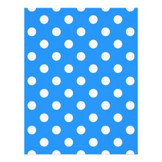 Polka Dots Large - White on Dodger Blue Letterhead