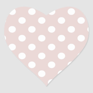 Polka Dots Large - White on Dust Storm Heart Sticker