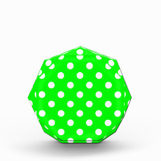 Polka Dots Large - White on Electric Green Award