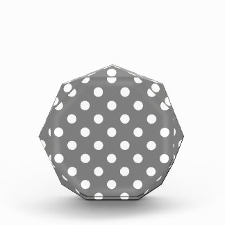 Polka Dots Large - White on Gray Acrylic Award