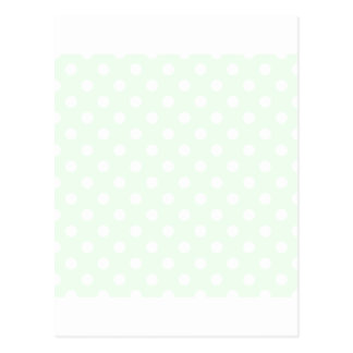 Polka Dots Large - White on Honeydew Postcard