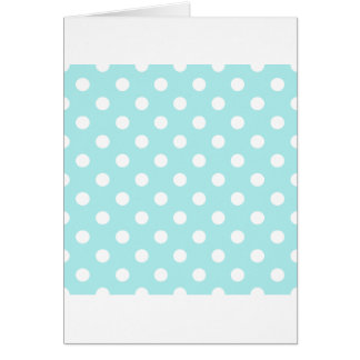 Polka Dots Large - White on Pale Blue Greeting Card