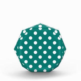 Polka Dots Large - White on Pine Green Award