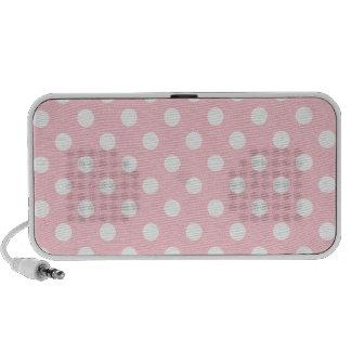 Polka Dots Large - White on Pink Speaker