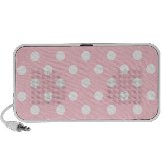Polka Dots Large - White on Pink PC Speakers