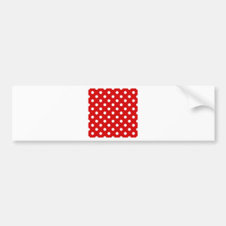 Polka Dots Large - White on Rosso Corsa Bumper Sticker