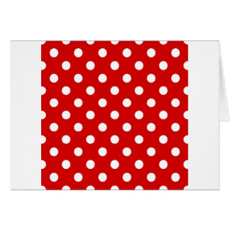 Polka Dots Large - White on Rosso Corsa Greeting Card