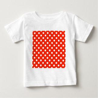 Polka Dots Large - White on Scarlet Baby T-Shirt