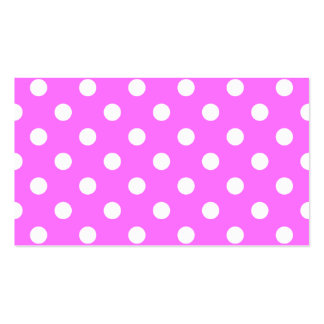 Polka Dots Large - White on Ultra Pink Business Card