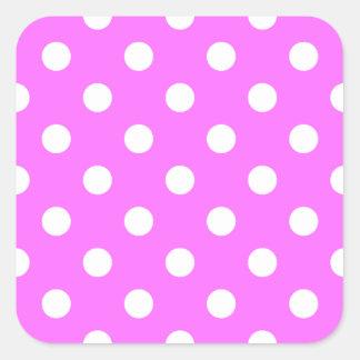 Polka Dots Large - White on Ultra Pink Sticker