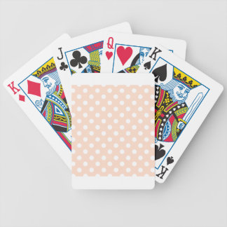 Polka Dots Large - White on Unbleached Silk Card Deck