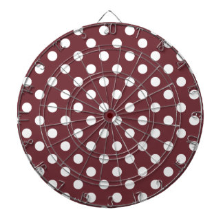 Polka Dots Large - White on Wine Dart Board