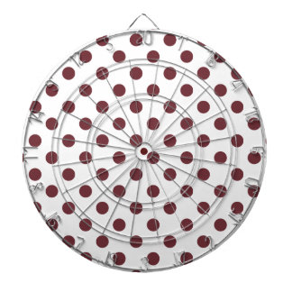 Polka Dots Large - Wine on White Dart Board