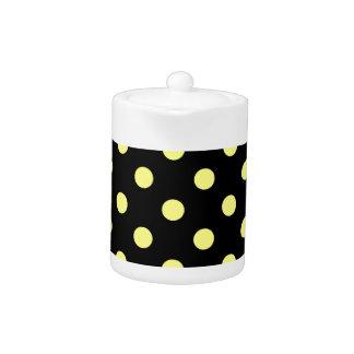Polka Dots Large - Yellow on Black