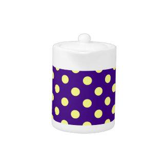 Polka Dots Large - Yellow on Dark Violet