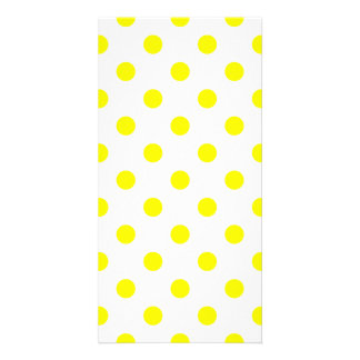Polka Dots Large - Yellow on White Photo Card