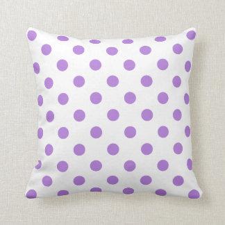 Nice Polka Dots   Lavender On White Throw Pillow