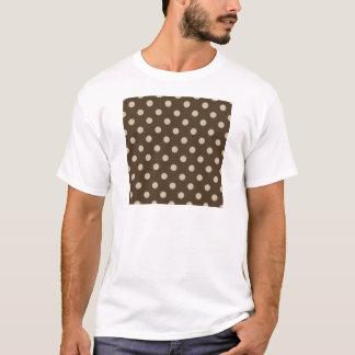 Polka Dots - Light Brown on Dark Brown T-Shirt