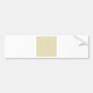 Polka Dots - Light Violet on Light Yellow Car Bumper Sticker
