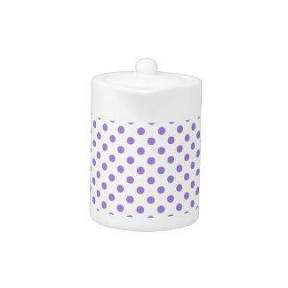 Polka Dots - Light Violet on Light Yellow
