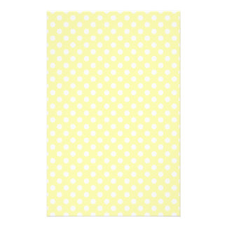 Polka Dots - Light Yellow on Corn Stationery