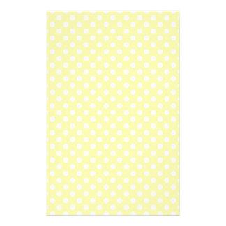 Polka Dots - Light Yellow on Corn Stationery Design