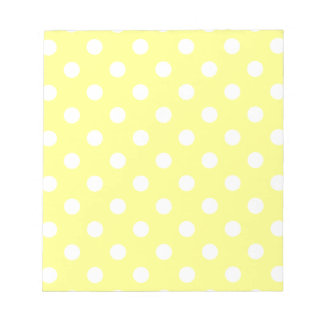 Polka Dots - Light Yellow on Yellow Notepad